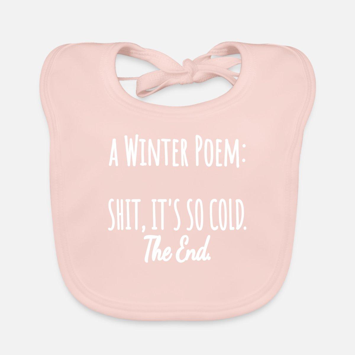 Wiersz Zimowy Wiersz Bezczelny Zima Zimno śmieszne Ekologiczny śliniaczek Różany