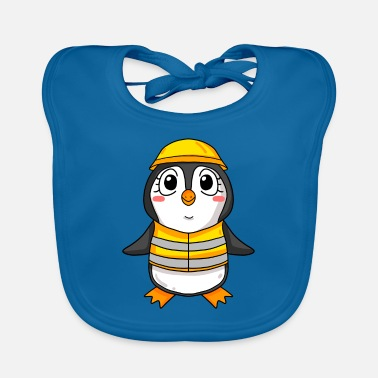 House Building Topping out penguin house building house building gift - Baby Bib