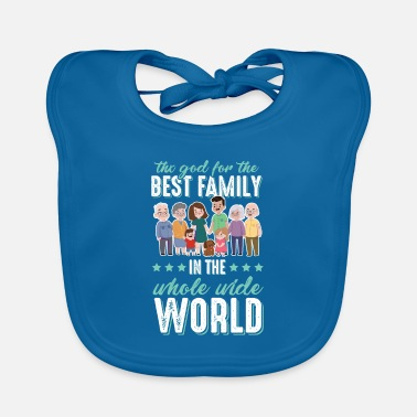 Grandad Family love saying - Baby Bib