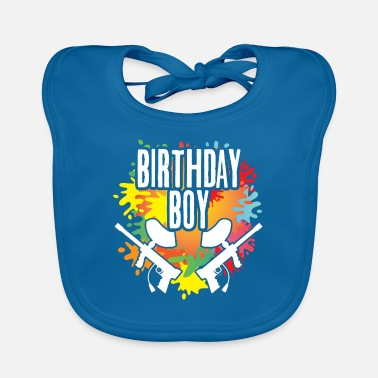 Paintball Paintball Birthday Boy Party Theme Color Splash - Baby Bib