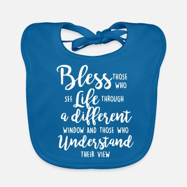 Windows Bless those who understand their view - Baby Bib