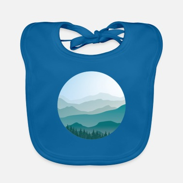 Landscape in cartoon style - landscape - Baby Bib