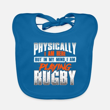 Crazy rugby saying - rugby - Baby Bib