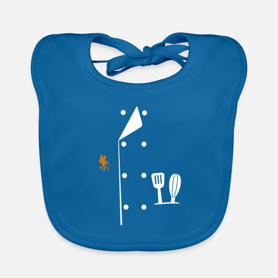Birthday Baby Clothes - Chef uniform cook cook chef gift - Baby Bib peacock-blue