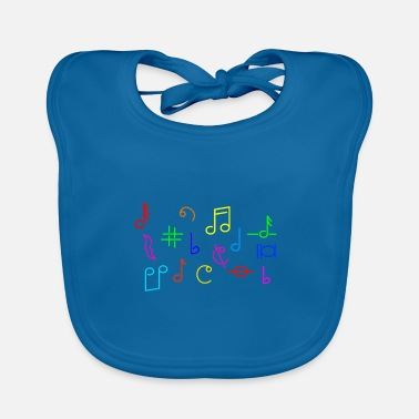 Different Music electro EDM rock hiphop techno gift idea - Baby Bib