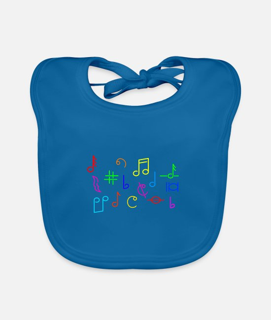 Sounds Baby Bibs - Music electro EDM rock hiphop techno gift idea - Baby Bib peacock-blue