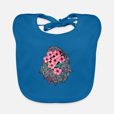 Abstract abstract flowers - Baby Bib