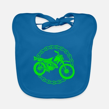 Motor Race Motorcycle - motocross bike / Racing - Baby Bib