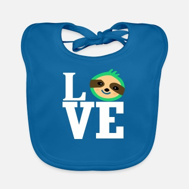 Animal Love Love love sloth animal love animal-loving animal lover - Baby Bib