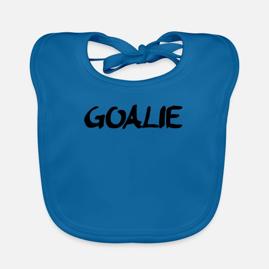 Goalie Baby Clothes - Goalie - Baby Bib peacock-blue