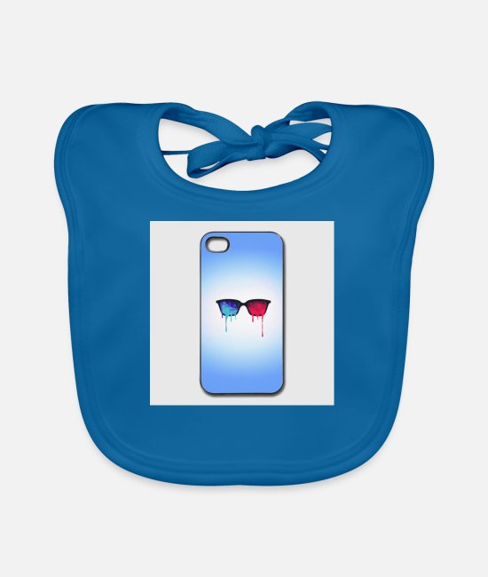 Meditation Baby Bibs - 3d psychedelic goa meditation glasses iphone 44s h - Baby Bib peacock-blue