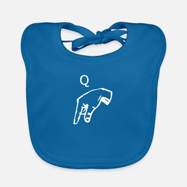 Letter Letter Q in sign language - Baby Bib