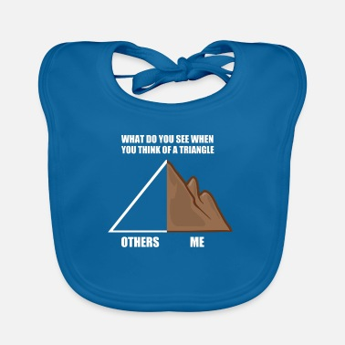 What do you see when you see a triangle? Climb - Baby Bib