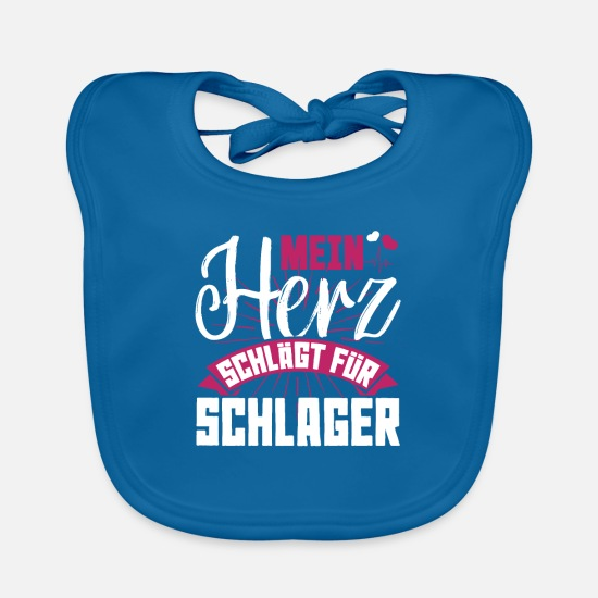 Present Baby Clothes - Schlager love - Baby Bib peacock-blue