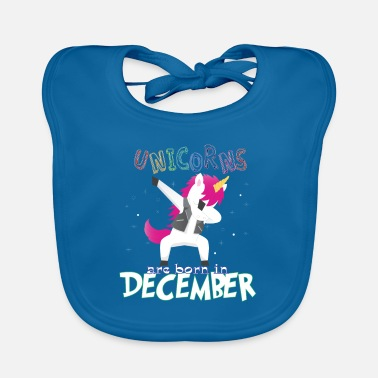 Born In Born Unicorns-Born December - Baby Bib