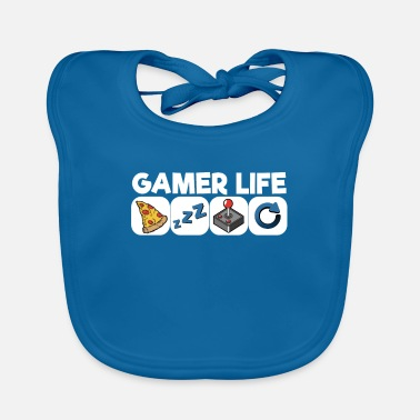 Pc Gamer Life Eat Sleep Gaming Repeat Shirt gift - Baby Bib