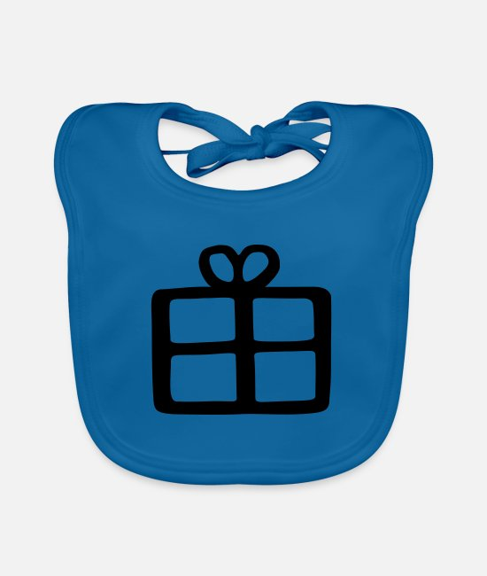 Make A Present Baby Bibs - gift - Baby Bib peacock-blue