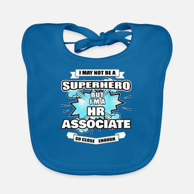 Association HR Associate Gift Superhero HR Associate - Baby Bib