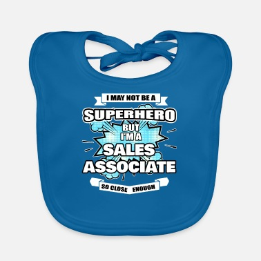 Association Sales Associate Gift Superhero Sales Associate - Baby Bib
