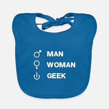 Geek Geek On GEEK humor geek joke - Baby Bib