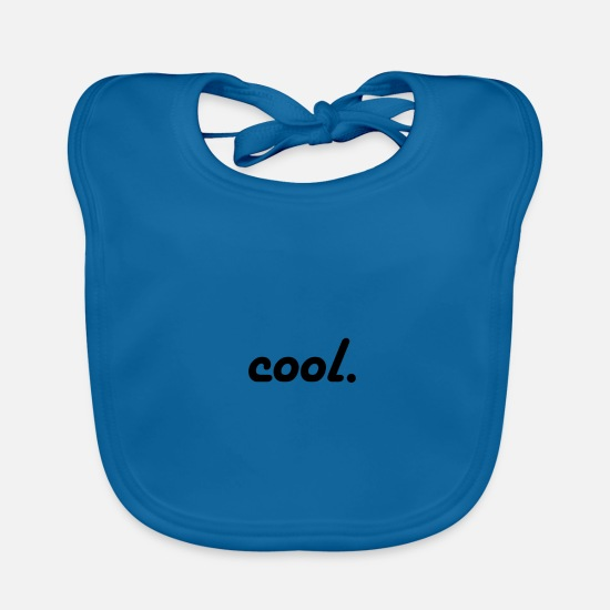 Cool Story Baby Clothes - cool. - Baby Bib peacock-blue