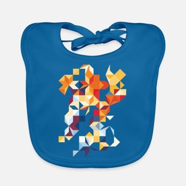 Multi Coloured Multi Colour Flutter - Baby Bib