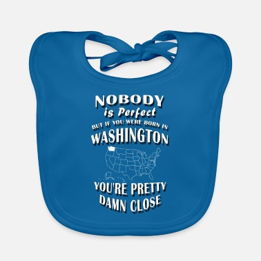 Evergreen BORN IN WASHINGTON / Evergreen State, Evergreen - Baby Bib