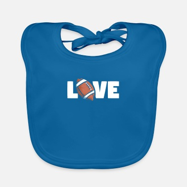 American Football Football love - Baby Bib