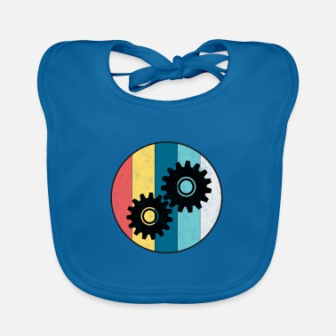 Mechanic Engineer vintage gear mechanic profession gift - Baby Bib