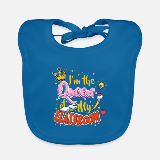 Teacher  Babykleding - Teacher Teacher's Day Classroom Queen Teacher's - Slabbetje pauwblauw
