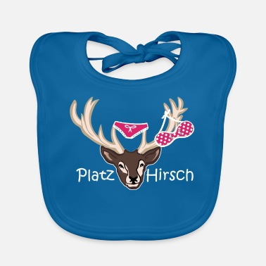 Stag Underwear Place deer birthday gift idea macho - Baby Bib