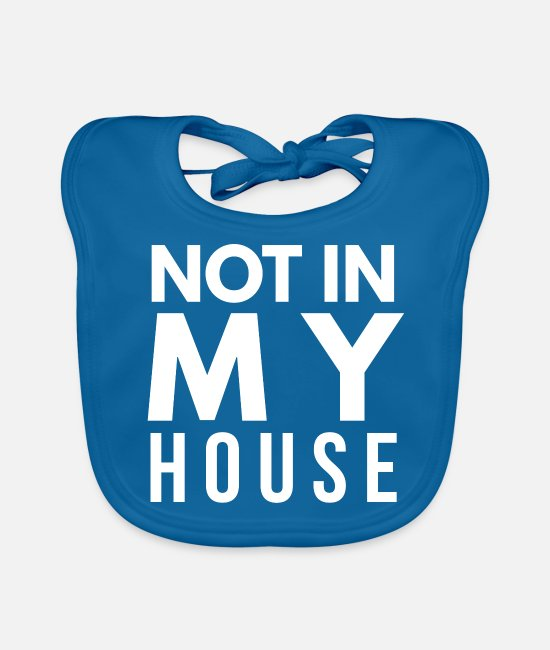 Idea Baby Bibs - Funny saying Gifts Funny Funny Sayings - Baby Bib peacock-blue