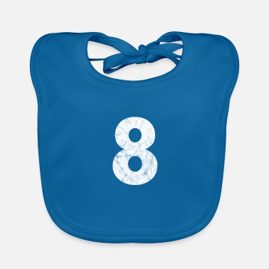 Eight Number 8, number 8, 8, eight, number eight, eight - Baby Bib