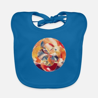 Abstract Abstract Circle - Baby Bib