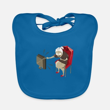 Watch Tv Grandma watching TV - Baby Bib