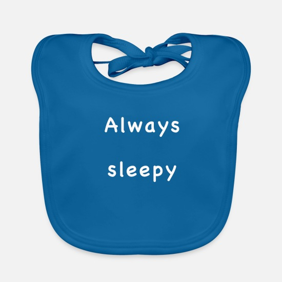 Always Baby Clothes - Always sleepy - Baby Bib peacock-blue