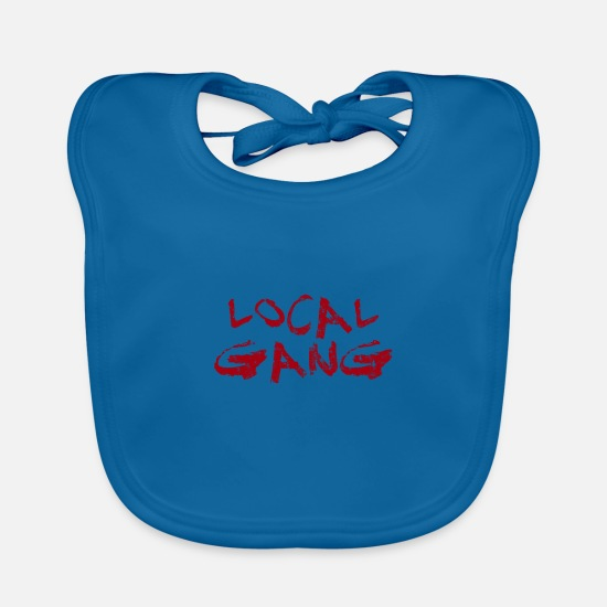 Gang Baby Clothes - Local gear - Baby Bib peacock-blue