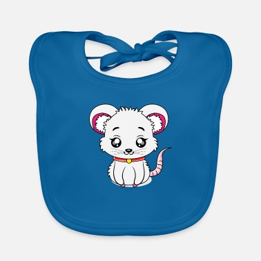 Baby Mouse Cuddly toy, baby mouse, baby animals - Baby Bib