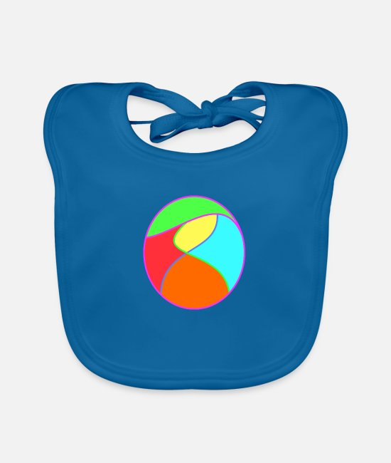 Easter Baby Clothes - The egg - Baby Bib peacock-blue