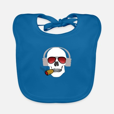 Cigar skull with cigar - Baby Bib
