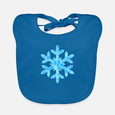 Snowflake with pattern - christmas - Baby Bib