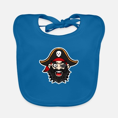 Pirate Party Halloween Pirate Party - Pirate Captain for Part - Baby Bib