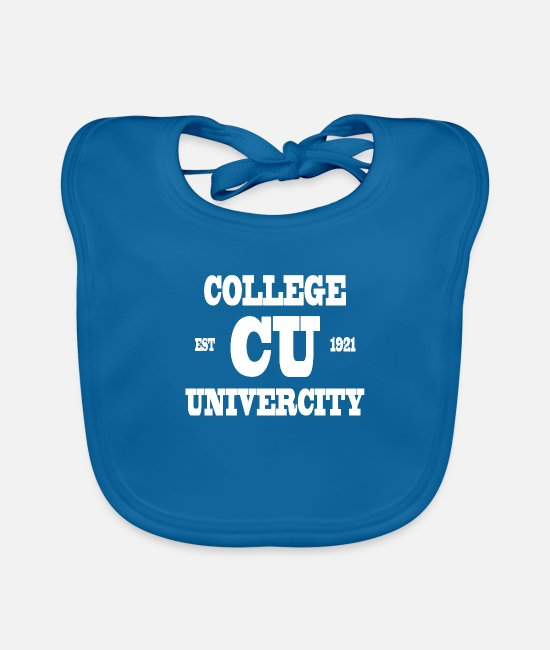 College Style Baby Bibs - College - Baby Bib peacock-blue