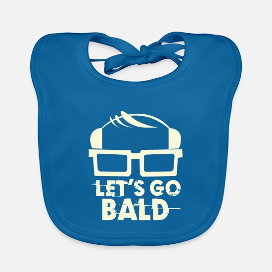 Gift Idea Baby Clothes - baldy - Baby Bib peacock-blue