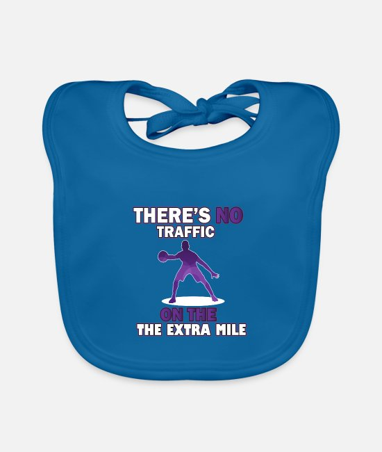 Basketball Player Baby Bibs - Run the extra mile basketball - Baby Bib peacock-blue