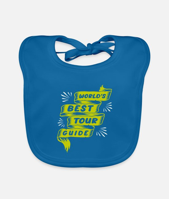Travel Baby Clothes - tourist guide - Baby Bib peacock-blue