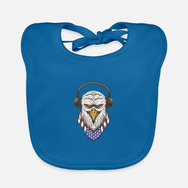 Yourself Eagle Head Usa - Baby Bib