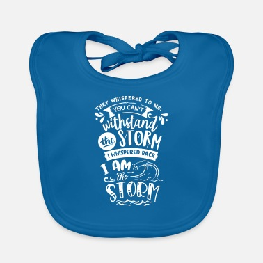 Mom They Whispered To Me You Cant Inspiration - Baby Bib