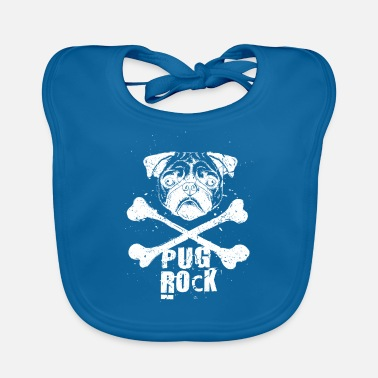 Punk Pug Rock Funny Punk Rock Music Dog - Baby Bib