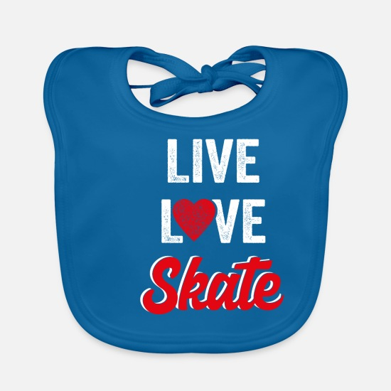 Inline Skates Baby Clothes - Inline skating - Baby Bib peacock-blue